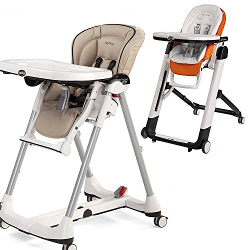 Peg Perego Peg-Perego Prima Pappa Best High Chair w Peg Perego Baby Cushion White (Cappucino)