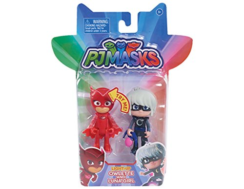 Just Play PJ Masks 2Pk Light Owlette Vs. Luna Girl Toy Figure