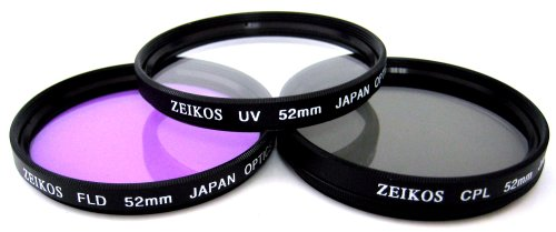 52mm Multi-Coated 3 Piece Filter Kit (UV-CPL-FLD)