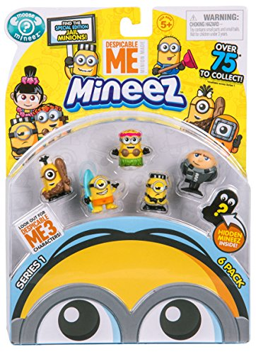 Despicable Me Mineez Character 6 Pack (Styles May Vary)