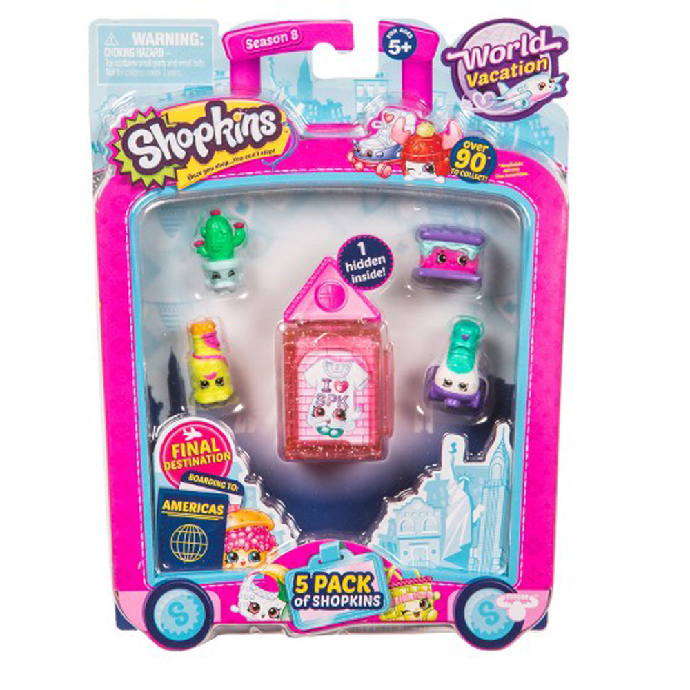 Shopkins S8 America Toy 5 Pack (Style May Vary)