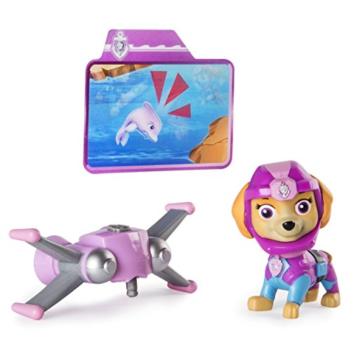 Paw Patrol Sea Patrol  Light Up Skye Figure with Pup Pack and Mission Card