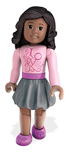Mega Bloks American Girl Series 1 - Pink Shirt and Grey Skirt Collectible Figures