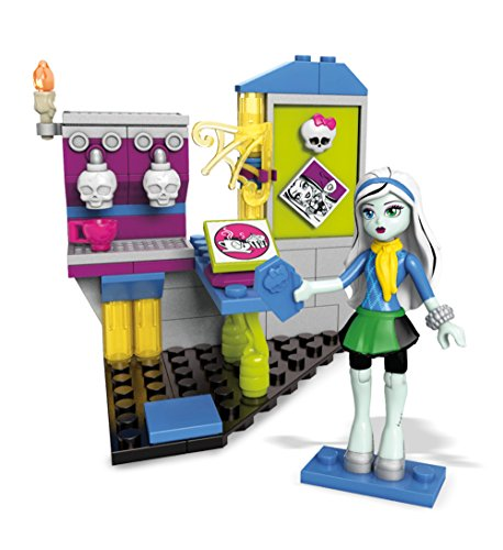Mega Construx Monster High Fright Roast Cafe Building Set with Frankie Stein Figure