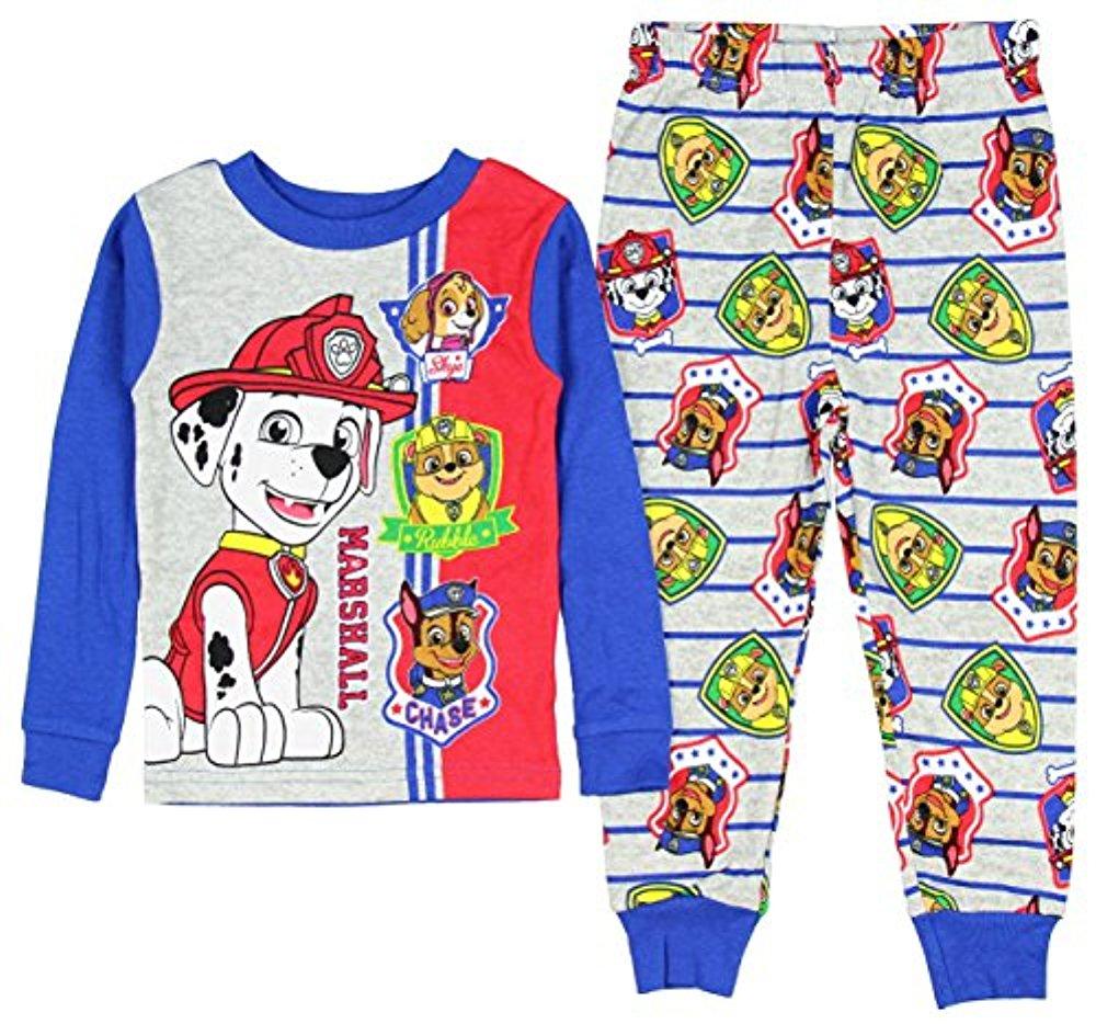 AME Sleepwear Nickelodeon Paw Patrol Toddler Boys Long Sleeve Pajama Set 2T