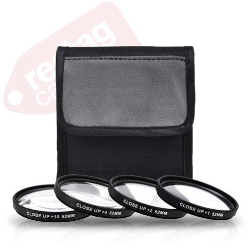 52mm 4 piece high definition Close-Up filter set