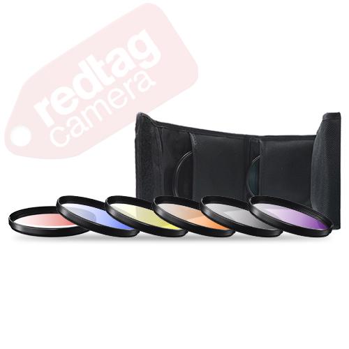55mm 6 Piece Professional Gradual Color Filter Kit