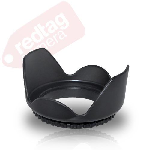 55mm Hard Tulip Shaped Lens Hood (Black)