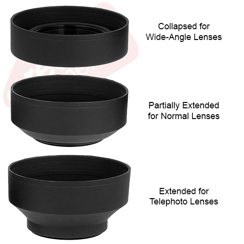 58MM LENS HOOD /& UV FILTER LENS PROTECTOR KIT for Canon Rebel T6i T6 T5i T5 SL1