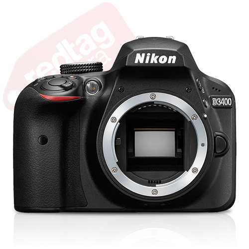 Nikon D3400 24.2 MP DX-Format CMOS Digital SLR Camera Body Black