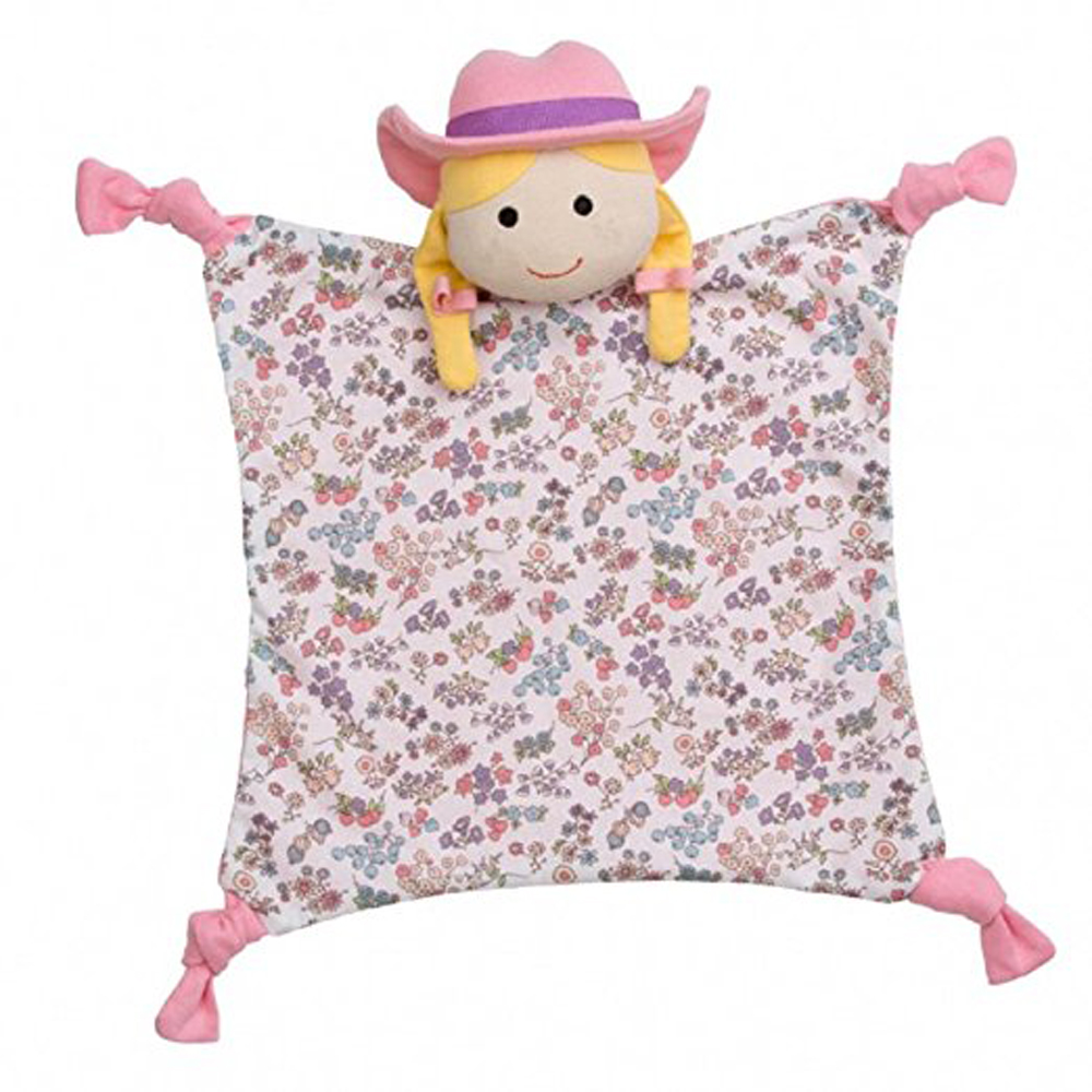Apple Park Organic Farm Buddies Blankie - Farm Girl