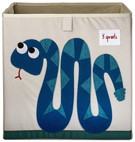 3 Sprouts Storage Box, Snake, Blue